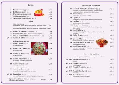Suppen, Salate, ital. Vorspeisen & Eiergerichte