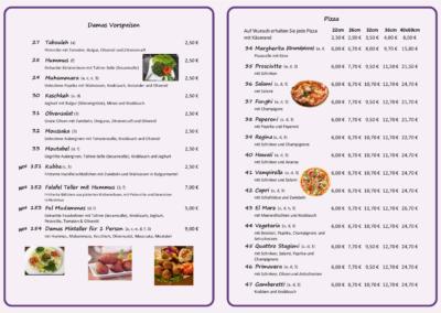 Damas Vorspeisen & Pizza