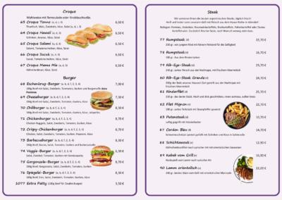 Croque, Burger & Steak
